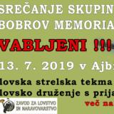 Srečanje skupine in Bobrov memorial 2019